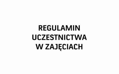 Regulamin uczestnictwa wzajęciach organizowanych przezGBiDK